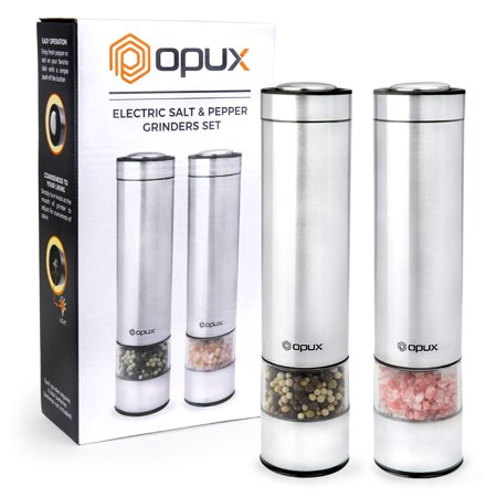 Premium Electric Salt & Pepper Grinder Set by