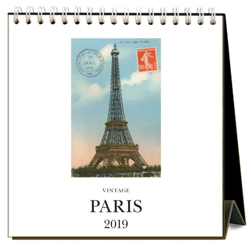 2019 Paris Nostalgic 2019 Easel Desk Calendar, France by Found IMage Press by Found Image Press