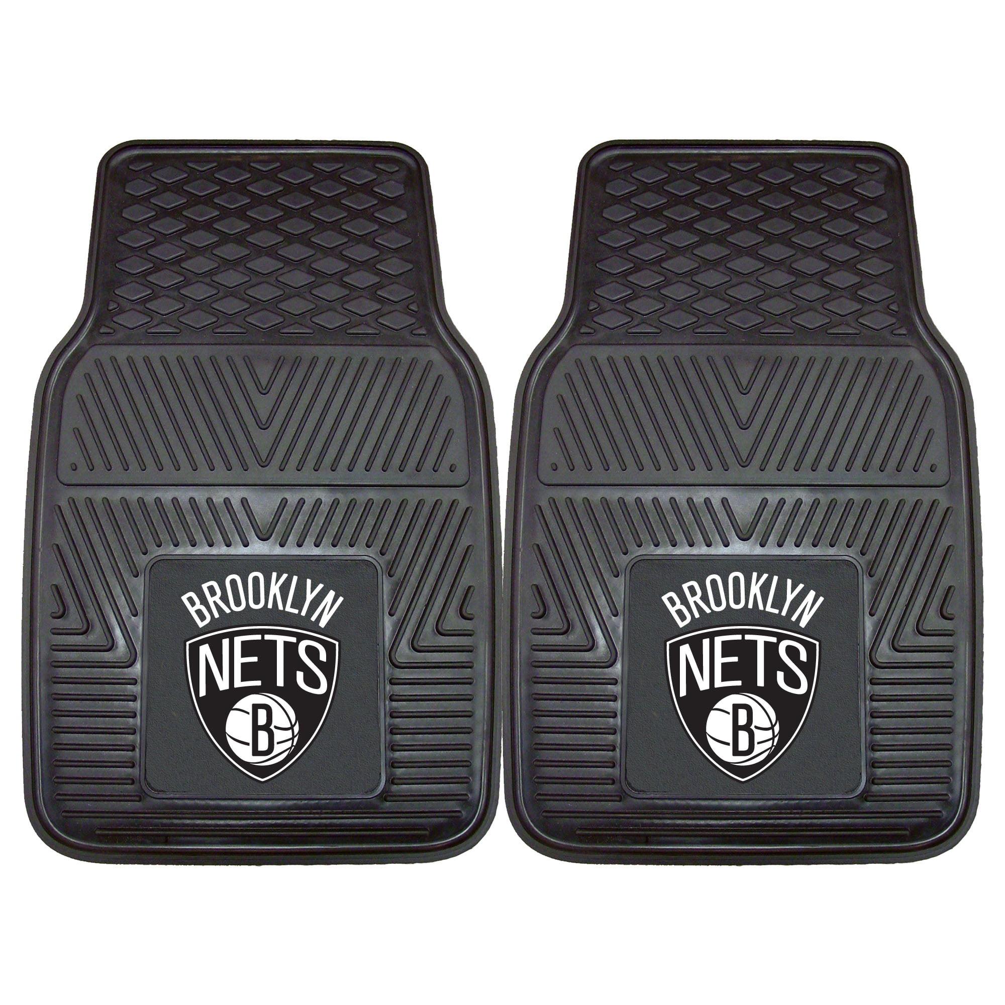 NBA Brooklyn Nets 2-PC Vinyl Front Car Mat Set, Universal Size