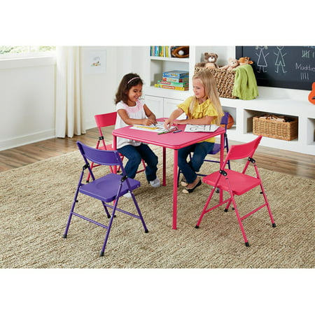Cosco 5-Piece Kids Table and Chair Set, Multiple Colors