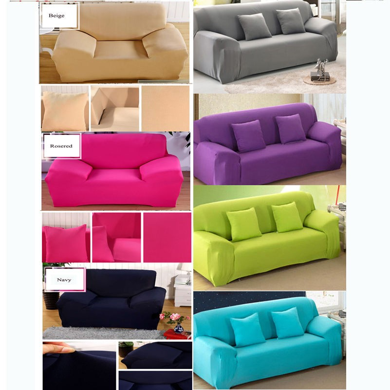 Pure Color Removable Elastic Sofa Slipcover Lounge Couch