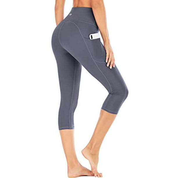 IUGA - IUGA High Waisted Yoga Pants for Women with Pockets Capri Leggings for Women Workout Leggings for Women Yoga Capris (Gray, XXL) - Walmart.com - Walmart.com