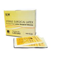 Surgical Gloves, Latex, Powder-Free, Sterile, Size 8.5, 50 Pairs/BOX
