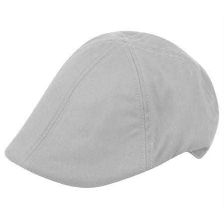 Mens Cotton Gatsby Cap Ivy Golf Driving Cabbie Newsboy Duckbill Summer Hat - Black Cabbie Hat