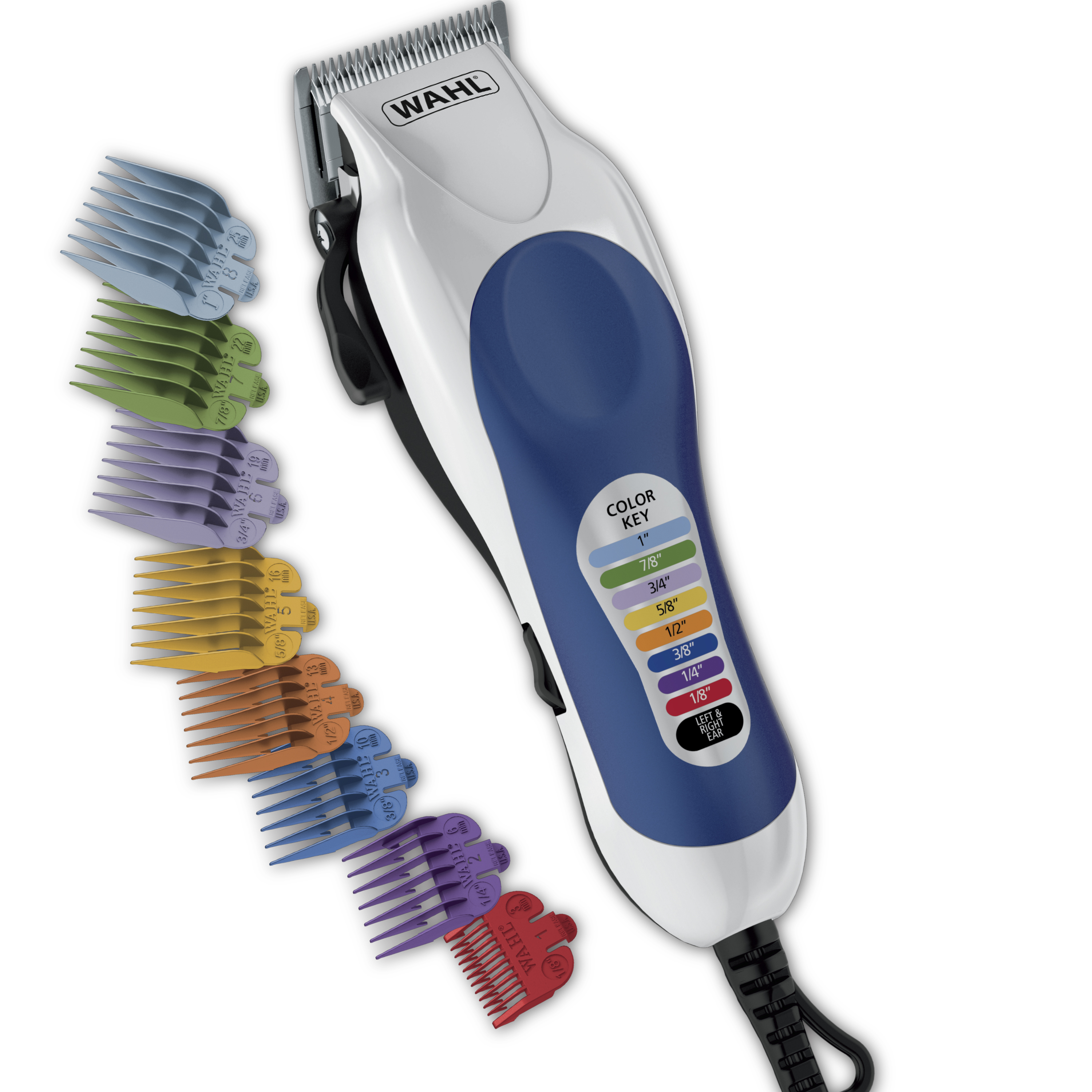 Wahl Corded Color Pro Color Coded Haircut Hair Clipper Kit, 20 pc, Model 79300-400W