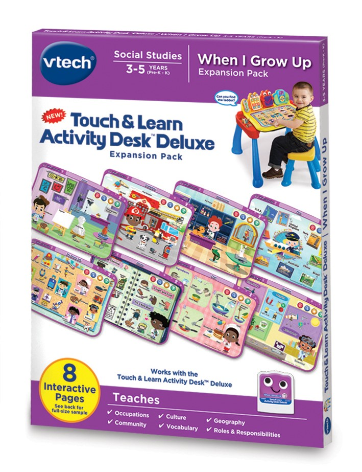 VTech Touch & Learn Activity Desk Deluxe When I Grow Up by VTech