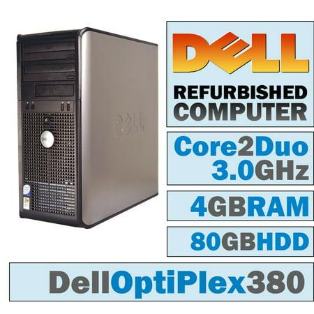 Desktop Combo (REFURBISHED Dell OptiPlex 380 MT/Core 2 Duo E7600 @ 3.07 GHz/4GB DDR3/80GB HDD/DVD-Combo/No OS )
