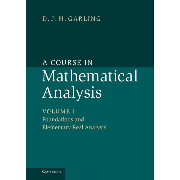 A Course In Mathematical Analysis Walmart Com Walmart Com