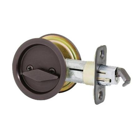 Kwikset 335 Round Privacy Bed Bath Pocket Door Lock