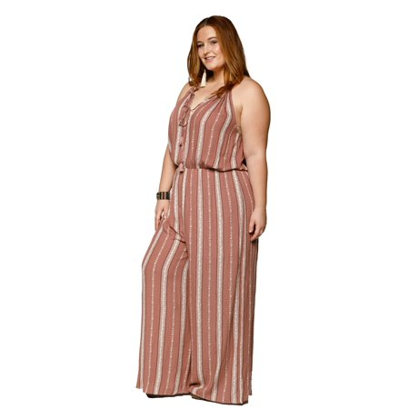 d461843995f7 Xehar - Xehar Women s Plus Size Sexy Sleeveless Halter Tassel Tie Jumpsuit  - Walmart.com