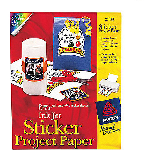 Avery Sticker Project Paper, 15-Pack