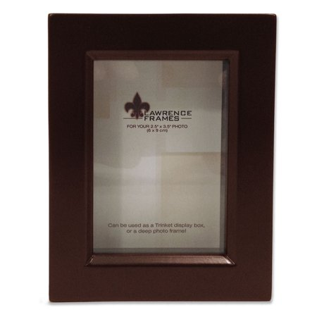795123 Espresso Wood Treasure Box Shadow Box 2.5x3.5 Picture Frame (Wood Shadow Boxes)