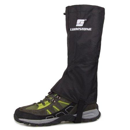 Mosunx Outdoor Hiking Climbing Waterproof Snow Gaiters Leg Cover Boot Legging Wrap (Motorcycle Gaiters)