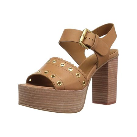 See By Chloé Womens Sb30012 Open Toe Casual Strappy, Medium Brown, Size 7.0 . Buy with confidence!