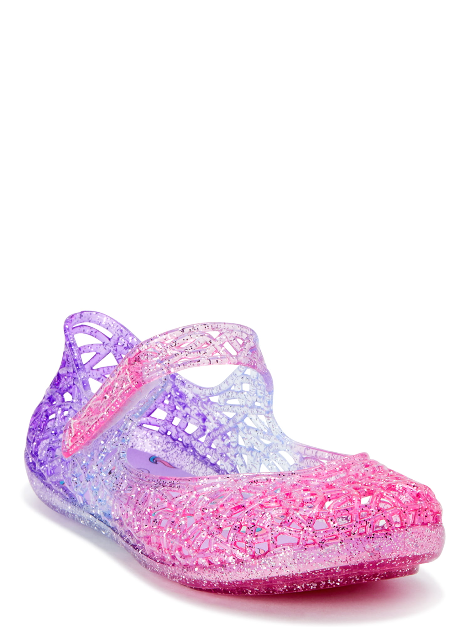 Wonder Nation Toddler Girls Mary Jane Jelly Shoes Size 11 Purple W Bow