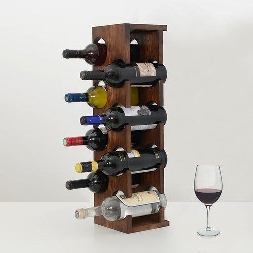 Fleur De Lis Living Benally 8 Bottle Tabletop Wine Rack