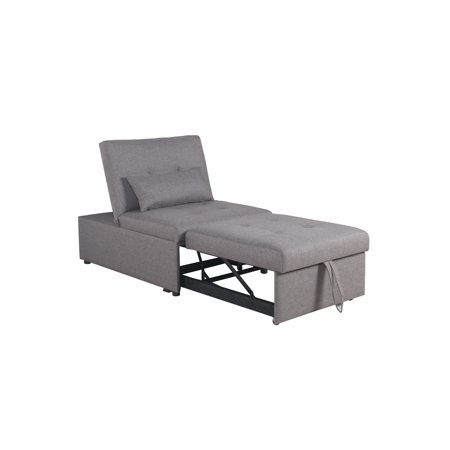 Home Source Randy Grey Convertible Chair