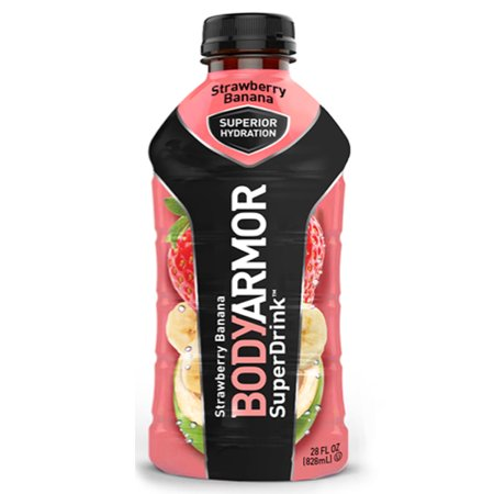 Body Armor Strawberry Banana Sports Drink 28 oz Plastic Bottles - Pack of 12