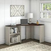 Bush Furniture Townhill Corner Desk with Bookcase, Gray/Brown