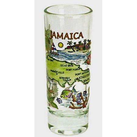 Jamaica Map Shooter Shot Glass](Shooter Glasses)
