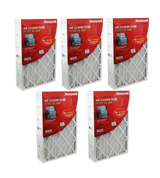 Honeywell 16x25x4 Furnace Filter CF100A1009 MERV-8 Filter Case of 5