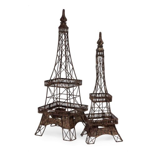 IMAX 22.5H in. Eiffel Tower Accents - Set of 2