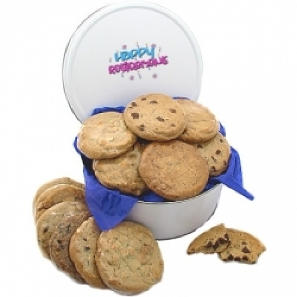 Retirement 3lb Tin Cookie Gift 12 Gourmet Cookies by