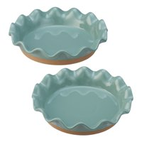 Better Homes & Gardens Ellie Pie Plate, Set of 2, Multiple Colors