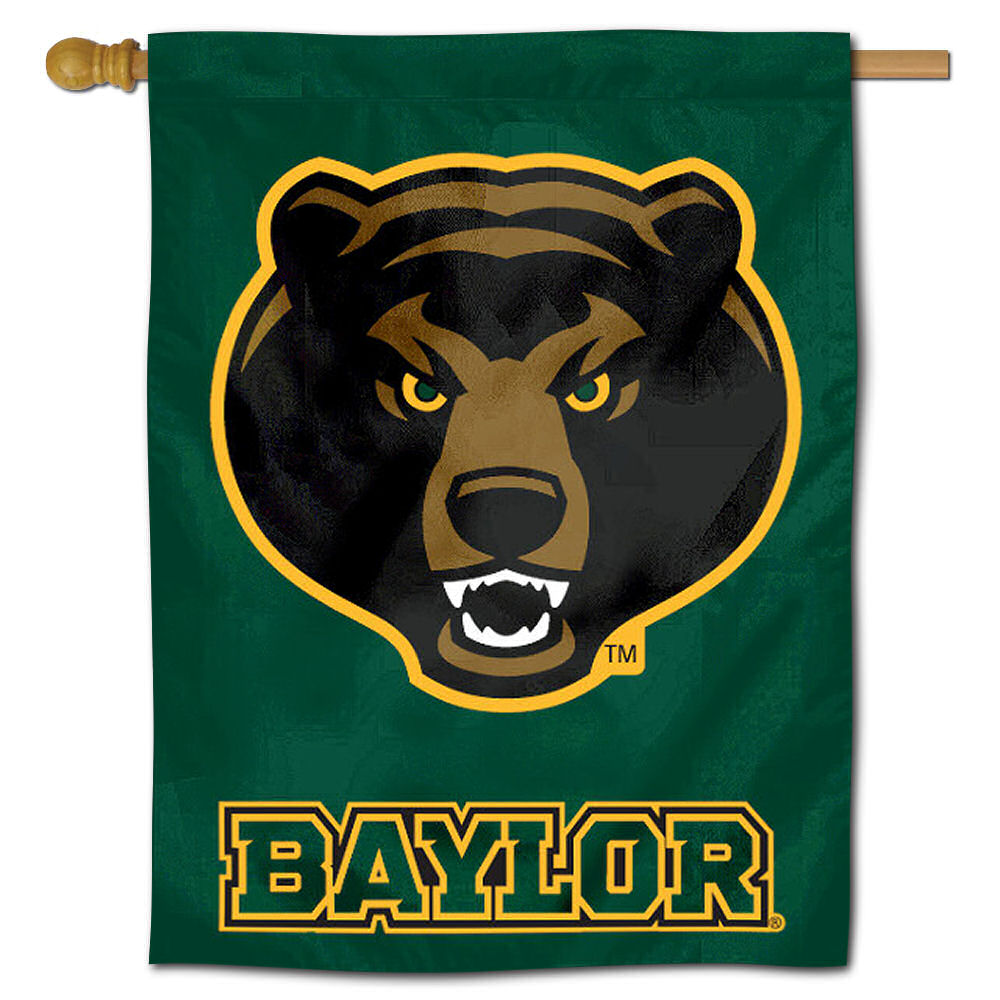 "baylor bu bears 30"" x 40"" house flag and banner"