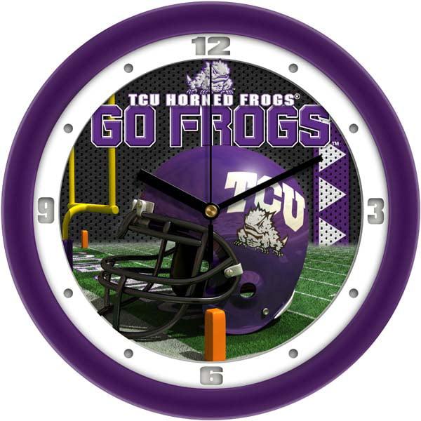 TCU Helmet Wall Clock