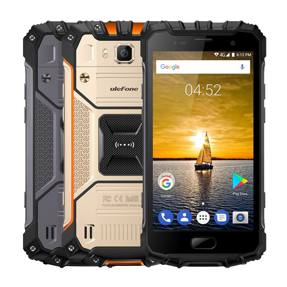 Ulefone ARMOR 2 Rugged Tough 4G Smartphone 5.0 inches Android 7.0 IP68 Waterproof Shockproof Dustproof 6GB RAM 64GB ROM 16MP & 13MP Cameras NFC OTG Cell Phone (Gray)