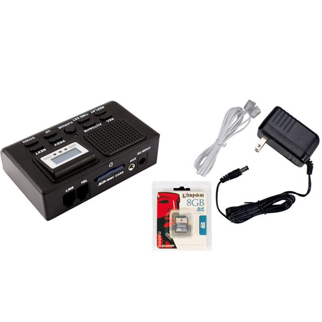 Safety Technology MTR Mini Telephone Recorder With 8Gb Sd Card