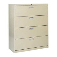 "Sandusky Lee 600 Series 42"" 4-Drawer Lateral File, Putty"
