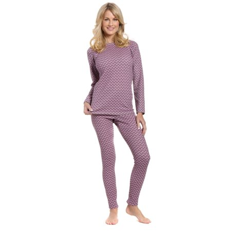 Noble Mount Women's Extreme Cold Waffle Knit Thermal Baselayer