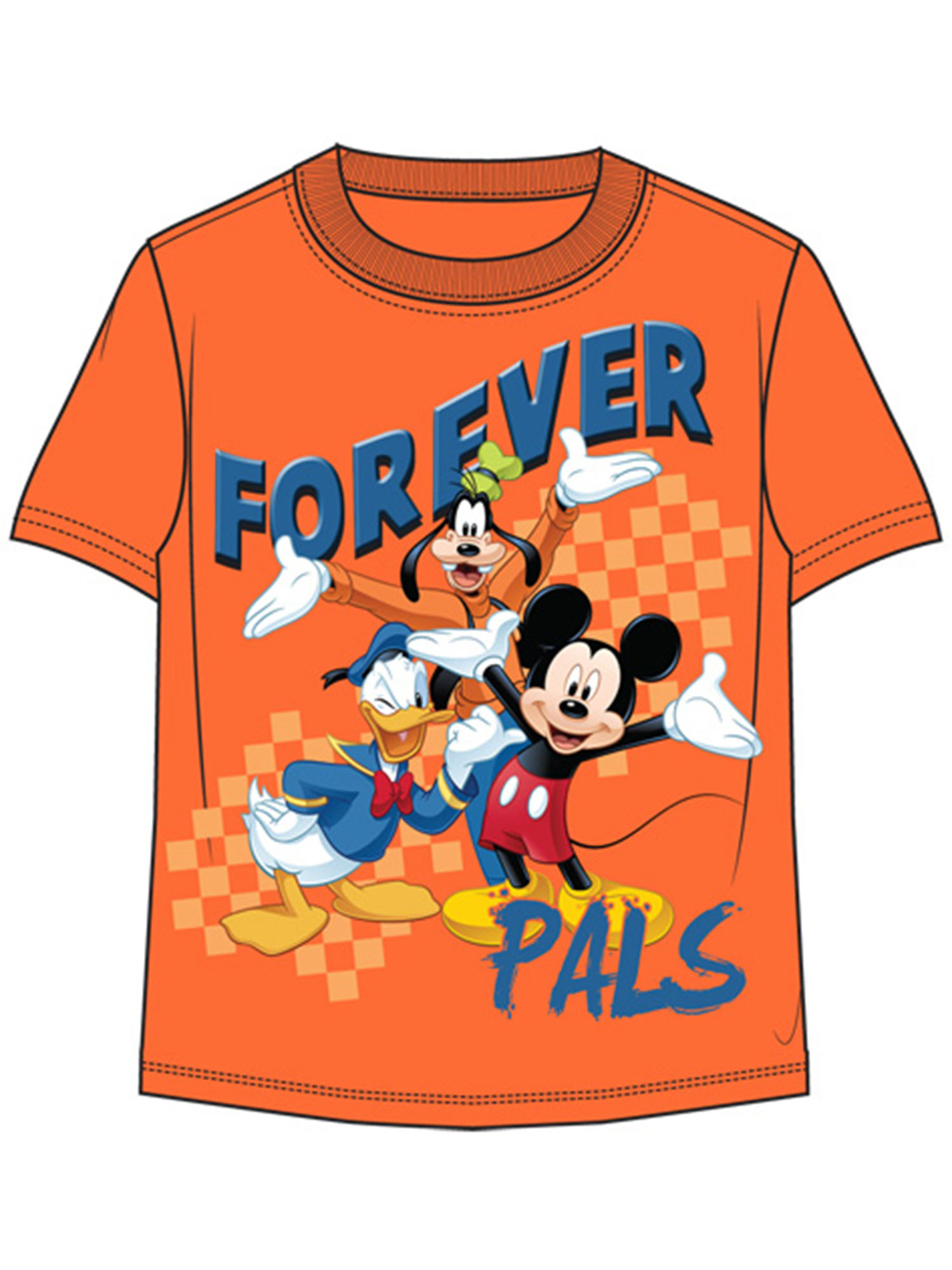 Disney Toddler Forever Pals Mickey Donald & Goofy 2T Tee