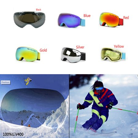Large Spherical Ski Goggles Lens For Men Women Double Skiing Lens Protection Anti-Fogging Ski Night Vision