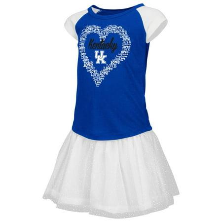 Kentucky Wildcats UK Toddler Shirt and Tutu Skirt Set