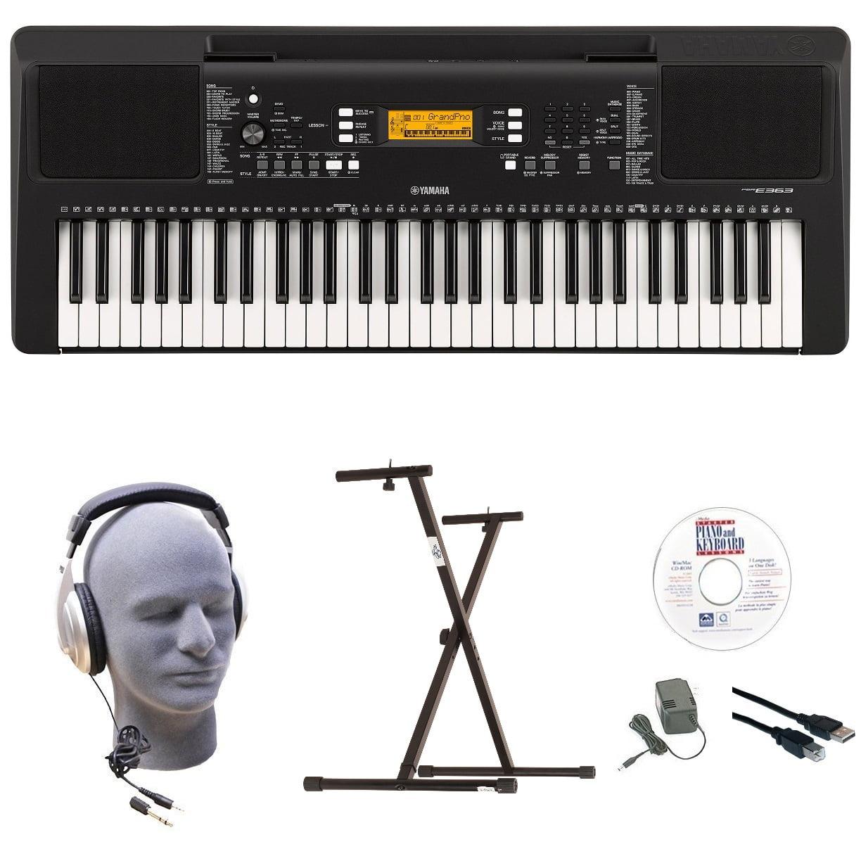 Yamaha PSR-E363 EPY 61-Key Keyboard Pack with Headphones, Power Supply, Secure Bolt-On... by Yamaha