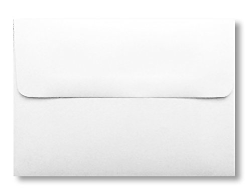 1000 A7 White Bulk Box Envelopes for Photos Announcements or Weddings
