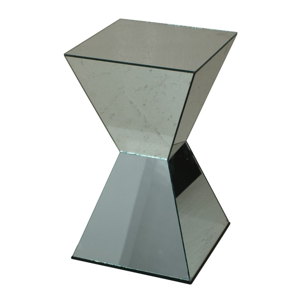 Alluring Mirrored Accent Table by Benzara
