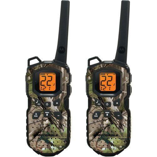 Motorola MS355R - 35 Mile Range Talkabout 2-Way Radios CAMO Series, PAIR