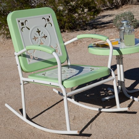 Coral Coast Paradise Cove Retro Metal Rocker (Kids Retro Rocker)
