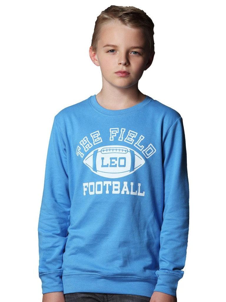 Leo&Lily Big Boys' Kids Sports Fleece Sportswear Hoodie Pullover Blue