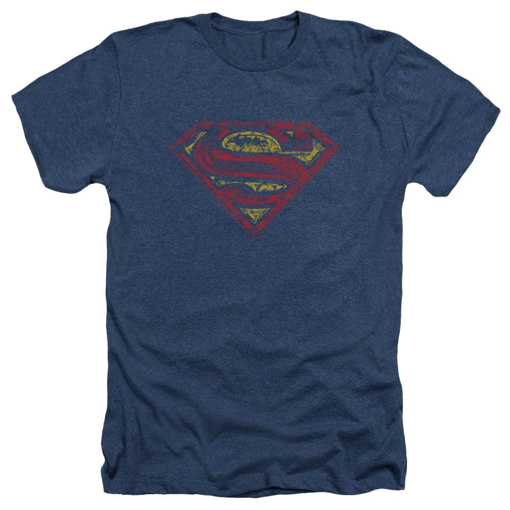 Superman S Shield Rough Mens Heather Shirt