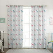 Best Home Fashion, Inc. Pastel Wildlife Blackout Thermal Grommet Curtain Panels (Set of 2)