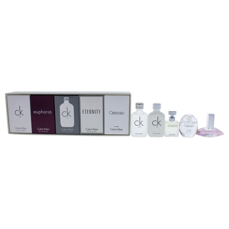 Calvin Klein Deluxe Fragrance Travel Collection by Calvin Klein for Women - 5 Pc Mini Gift Set (Earth Science Travel Fragrance)