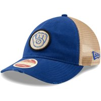 c4f207df9e427 Product Image Milwaukee Brewers New Era Cooperstown Collection Front Patched  Trucker 9TWENTY Adjustable Hat - Royal - OSFA
