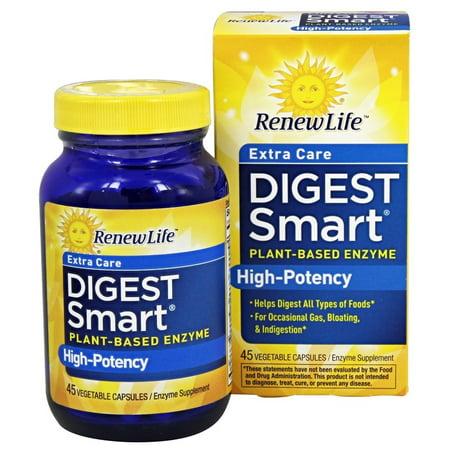 Renew Life - Digest Smart Care extra à base de plantes d'enzymes de haute puissance - 45 Capsules