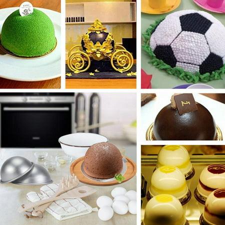 WALFRONT Demi-cercle moule à cake demi-boule en alliage d'aluminium pan, 10cm demi-cercle moule en aluminium hémisphère mousseline gâteau gâteau gâteau dessert dessert pudding cuisson mo - image 2 de 12