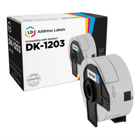 LD Compatible Brother DK1203 White Labels: 0.66 x 3.4 (300 Sheets) for P-Touch QL-1050N ()